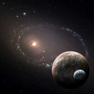 Two planets in the deep space