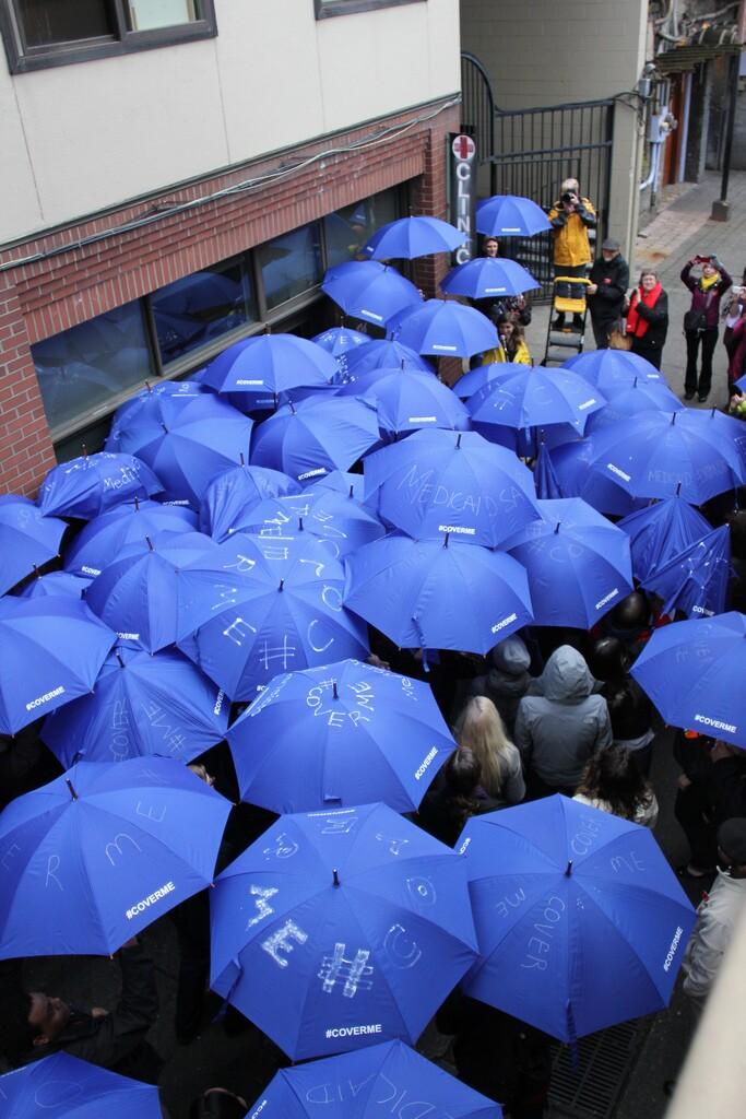 #CoverMe umbrellas
