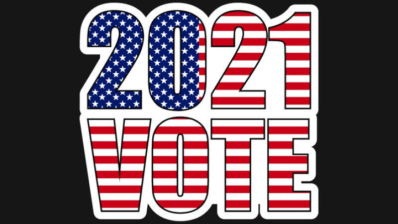 american elections 2021 vote sticker vector illustration. collection of badge patch stickers with democratic civil society slogans, stars and stripes flag elements. ready-made design for advertising printing