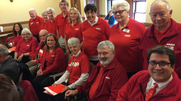 Red shirts at WI Private Secure Ret. Act hearing