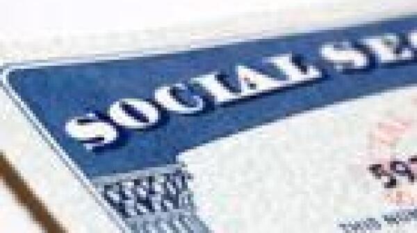 Social Security card corner