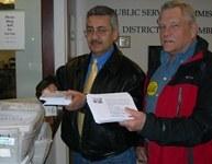 Vols deliver utilities postcards