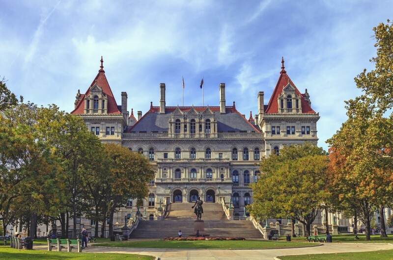 NY State Capitol Building in Albany