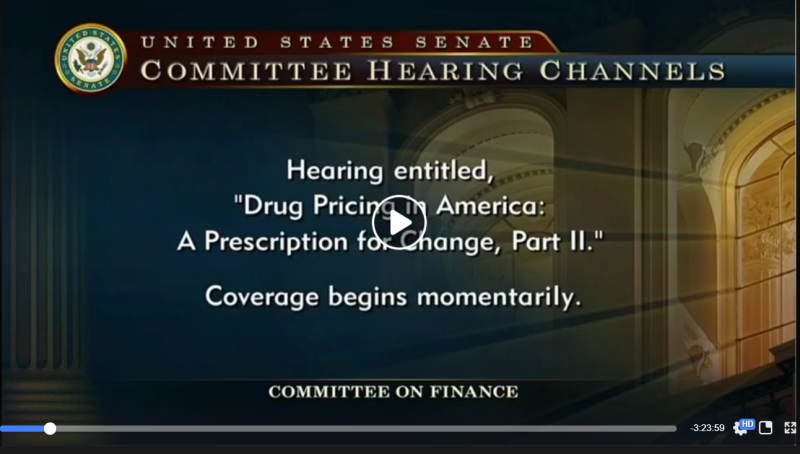 Hearing Drug Pricing in America