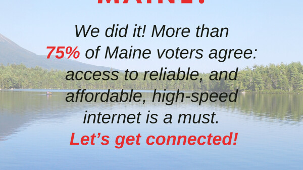 Thank you, Maine, We did it!