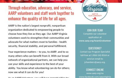 Volunteer with AARP Virginia!