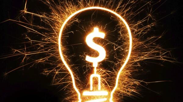 light bulb with dollar sign