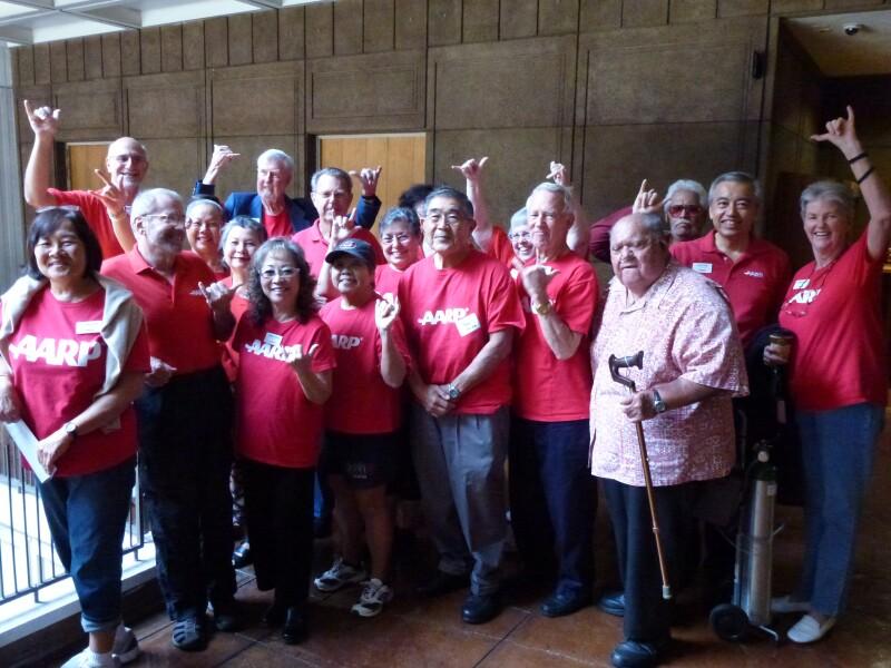 Volunteers visit legislators at the state Capitol 0n January 10