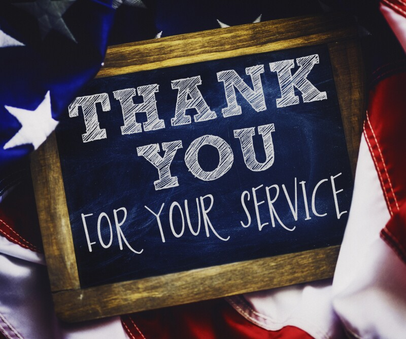 Veterans Day thank you to military veterans for their service