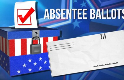 REQUESTS FOR ABSENTEE BALLOT APPLICATIONS DUE FRIDAY, OCTOBER 23 IN-PERSON ABSENTEE VOTING ENDS OCTOBER 31