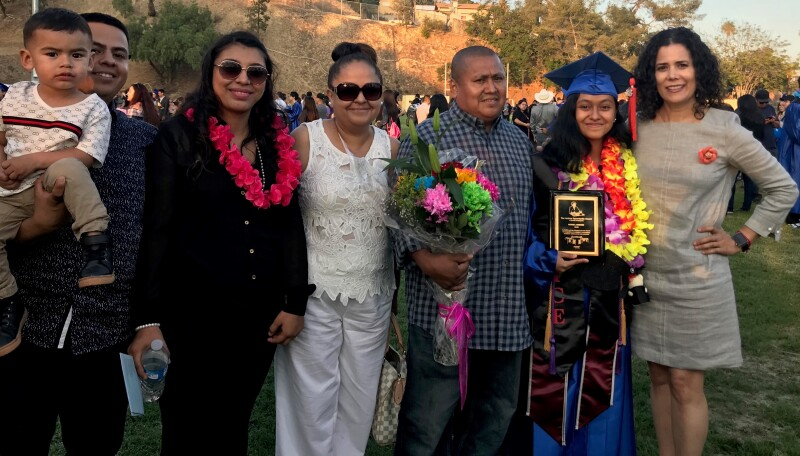 Family of Gissell Jimenez, Winner Andrus Opportunity Scholarship 2018, final
