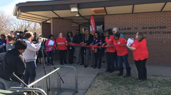 Atwater Center ribbon cutting