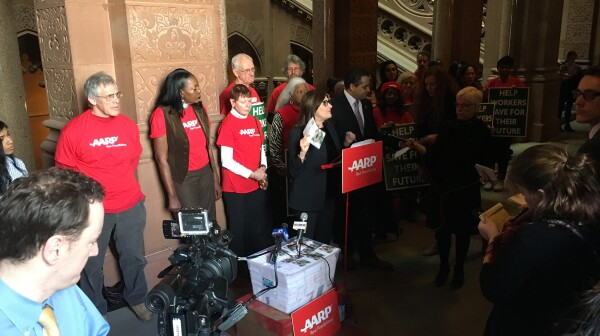 Secure Choice petitions press conference 3-8-17