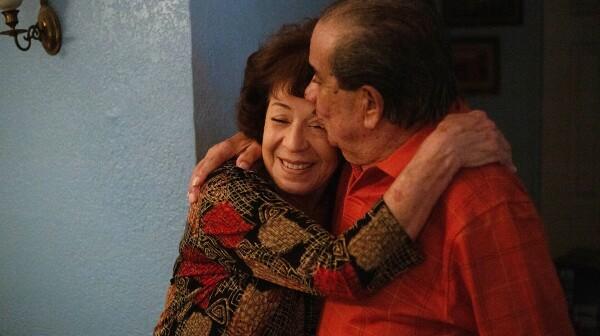Arizona man and woman embrace