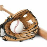 baseball, glove and bat