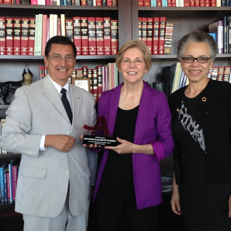 Sen. Elizabeth Warren_Award presentation 1_082416