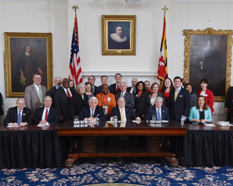 Governor Hogan signs AARP bills into law after 2016 Maryland General Assembly.