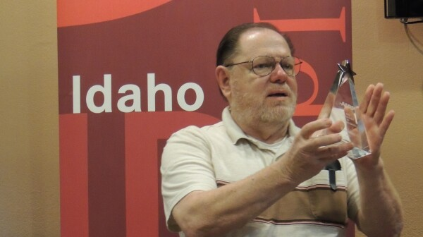 Gary Willett is honored with the 2012 AARP Idaho Andrus Award for Outstanding Community Service.