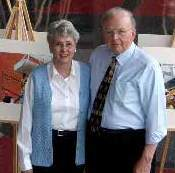 Ginny and Dewayne Lowther at art exhibit