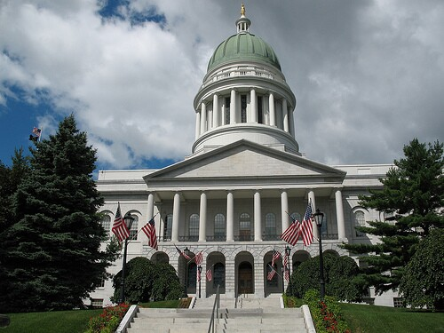 Maine State House credit Flickr FusionPanda