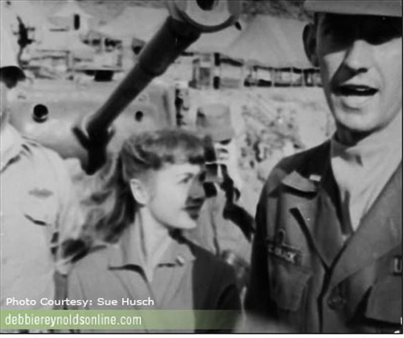 Debbie Reynolds Entertains the Troops