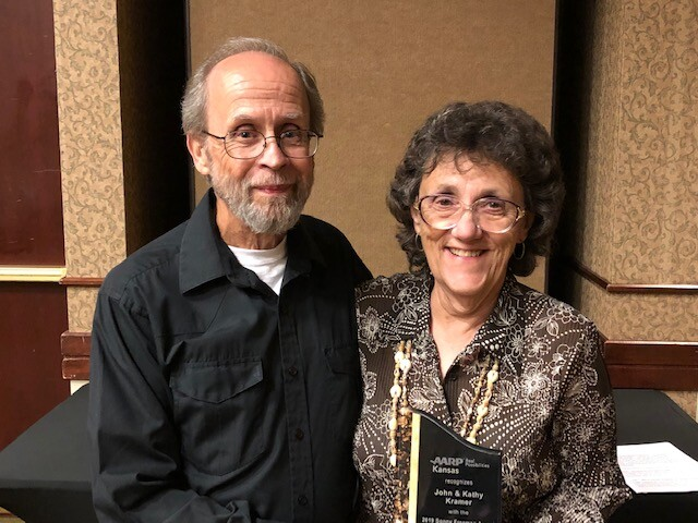 John and Kathy Kramer with award.jpg