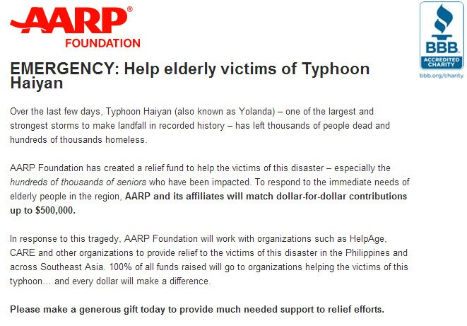 AARP Foundation_Typhoon Relief