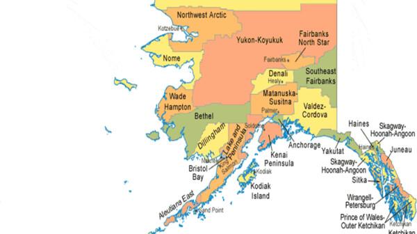 map of AK