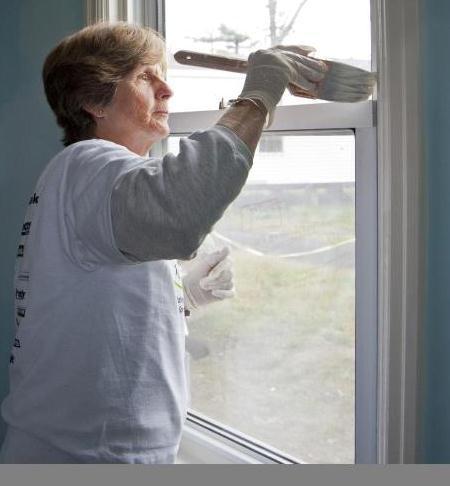 Volunteer Shirley Hayes of Brewster.