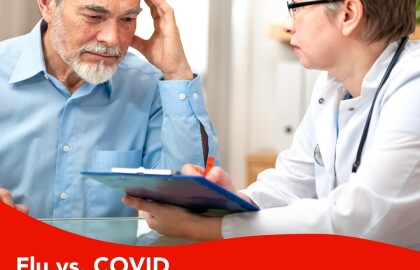"""""""House Calls,"""" Webinar Series Discusses Differences Between Flu and COVID"""