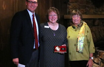 Lewis and the Alzheimer's Association of Wyoming honored by AARP Wyoming