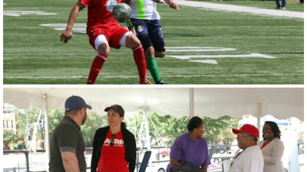 Booth & Soccer Action Collage