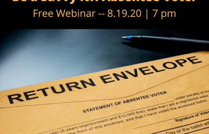 Be a Savvy NH Absentee Voter Webinar