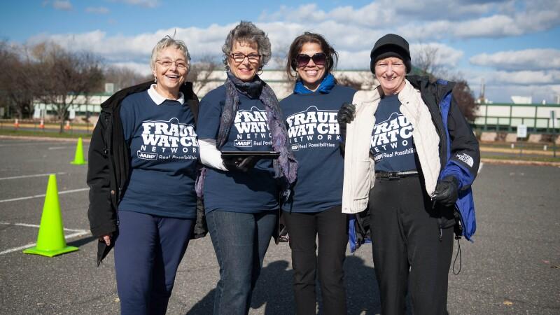 A group of Fraud Watch Network volunteers