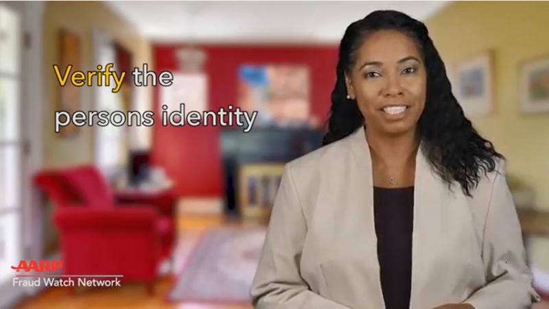 Verify the person's identity