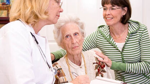 Senior woman, long-term care