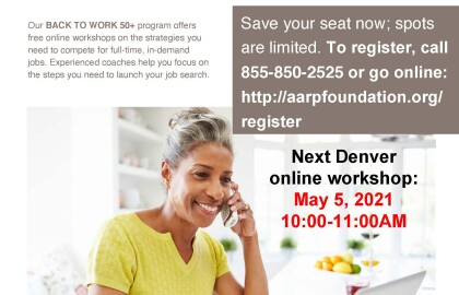 Free Online Workshops For 50+ Jobseekers