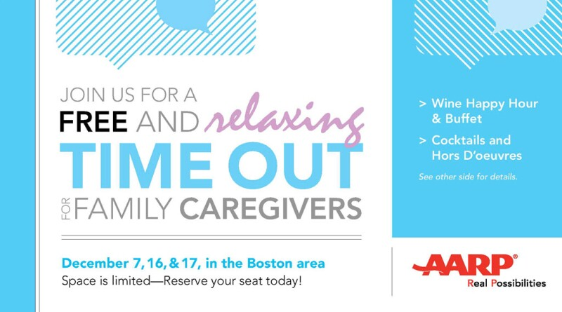 Attend an AARP Caregiver 'Time Out' Evening Event