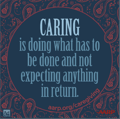 Caregiving.nothing in return