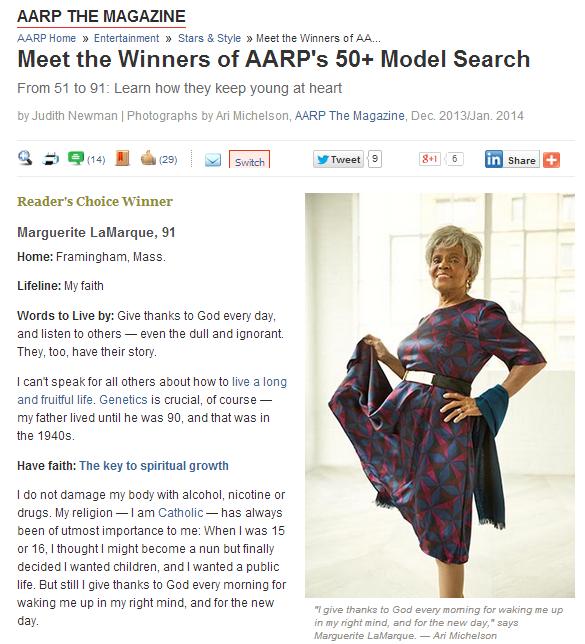 Marguerite LaMarque_AARP The Magazine