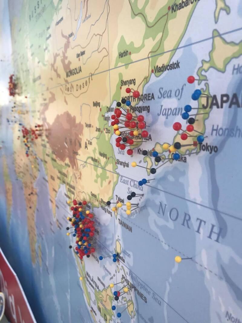 Vet map east Asia