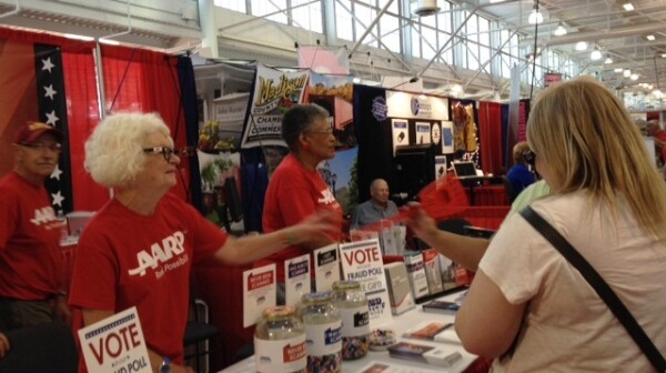 state fair booth workers