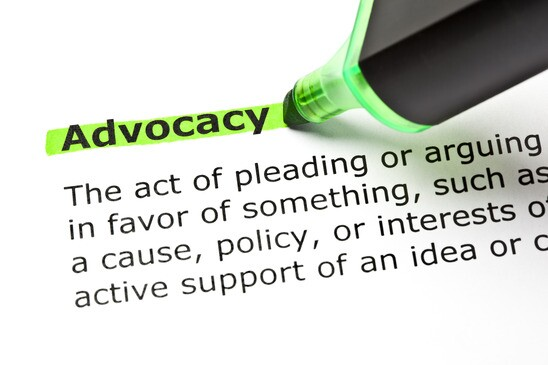 ADVOCACY highlighted in green
