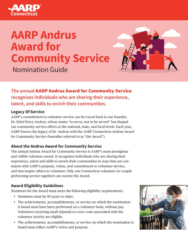 Connecticut 2021 Andrus Nomination Guide