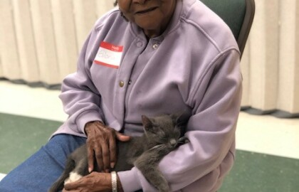Caregivers and their Loved ones Make a Connection with Local Furry Friends
