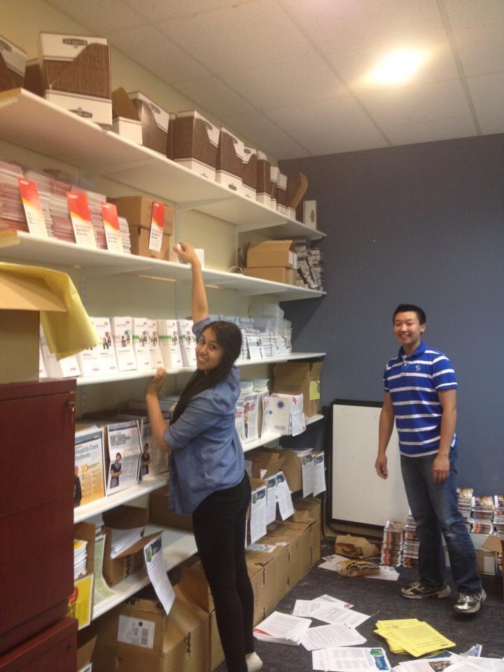 Shreya and Kevin - High School Volunteers at AARP New Jersey