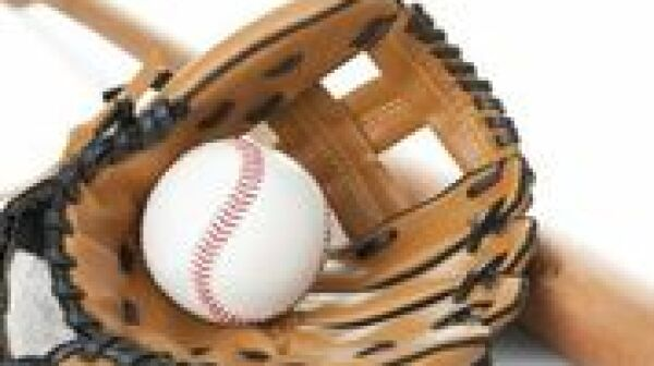 baseball, glove and bat