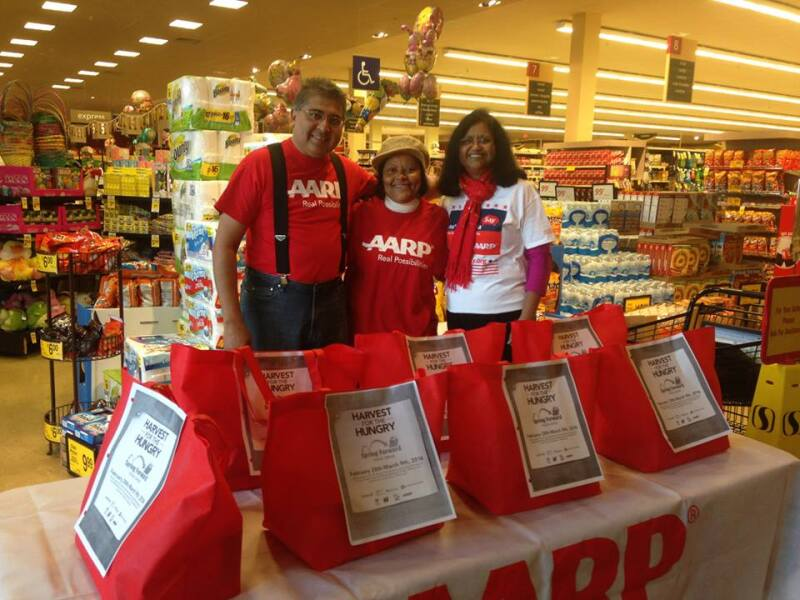 AARP Maryland helping fight hunger with our Harvest for the Hungry Food Drive in March 2015.