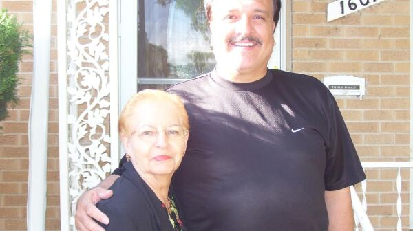 Larry Apodaca and his mom Terry