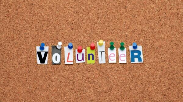 Volunteer pinned on noticeboard